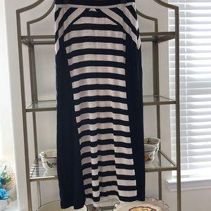 LAPIS Striped Maxi Skirt